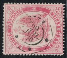 TIMBRE TELEGRAPHE - N°5 - CACHET - CETTE - HERAULT - LE 29 JUILLET 1870 - COTE TIMBRE 110€. - Télégraphes Et Téléphones