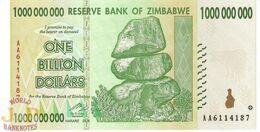 ZIMBABWE 1 BILLION DOLLARS 2008 PICK 83 UNC - Zimbabwe