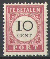 Nederlands Indie 1896 NVPH Nr Port 16 Postfris/MNH Cijfer In Zwart, Tax, Taxe - Netherlands Indies