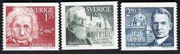 Sweden 1981 / Nobel Prize Winners 1921, Einstein, France, Soddy / MNH, Mi 1175-1177 - Ungebraucht