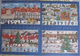 Denmark, Local Christmas Seals Kalundborg 1991 - 1994, 4 Full Sheets, MNH (**) - Fogli Completi