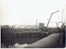 HOBOKEN 2/07/1929 - Fotokaart - Lossen Van Schepen (locomotief En Kraan)- Déchargement De Bateaux (locomotive Et Grue) - Sin Clasificación