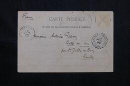 FRANCE / SÉNÉGAL - Oblitération Maritime Sur Carte Postale ( Soldat Sénégalais ) En 1905 - L 70866 - Poste Maritime