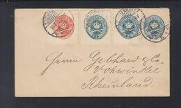 Dänemark Umschlag Mit ZuF GA 1895 Nach Deutschland - Lettere