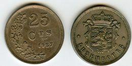 Luxembourg 25 Centimes 1927 KM 37 Weiler 274 - Lussemburgo