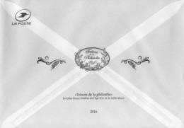 """FRANCE  ENVELOPPE TRANSPARENTE  """" Les  Trésors De La  Philatélie """"     2016 - Documents Of Postal Services"""