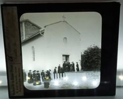 RARE : LE CURE D'ARS A LA CHAPELLE DE LA PROVIDENCE 01 AIN RELIGION PLAQUE DE VERRE - Ars-sur-Formans