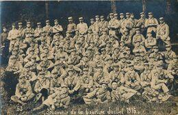 Carte-photo : Militaire - Souvenir De La Courtine - 162e RI 22e Cie - Juillet 1916 (BP) - Krieg, Militär
