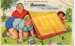 - AUXERRE (89) - Carte à Système - Auxerre Sous La Tente (avec Dépliant)   -21283- - Auxerre