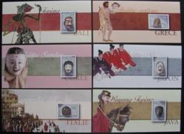 FRANCE 6 BLOCS SOUVENIR 83 A 88  - MASQUES DE THEATRE -  2013 - Souvenir Blokken
