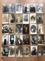 30x Foto Ak Cp Mode Fashion + - 1900-1920 Robe Hutmode Hut Chapeau - Mode