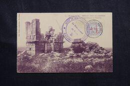 MAROC - Affranchissement Blanc Surchargé Avec Oblitération De Fez Sur Carte Postale En 1917 Pour La France - L 70910 - Lettres & Documents