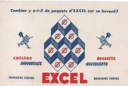 Buvard Publicitaire Ancien/Margarine/ EXCEL/Combien Y A T Il De Paquets D'Excel Sur Ce Buvard?/vers 1950-60     BUV522 - H