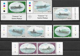 Sub65 Malta All 8 Submarine Stamps Set 2012 MNH-neuf - Submarines