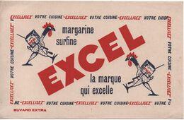 Buvard Publicitaire Ancien/Margarine/ EXCEL/Margarine Surfine / La Marque Qui Excelle/vers 1950-60     BUV523 - H