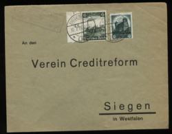 WW II Briefumschlag Mit Reichsparteitag MiF ,Sonderbriefmarken: Gebraucht Mit Landpost Stempel Eckelshausen über Biede - Germany