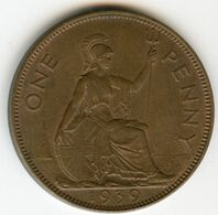 Grande-Bretagne Great Britain 1 Penny 1939 KM 845 - D. 1 Penny