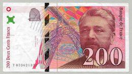 France - Billet 200 Francs Gustave Eiffel 1997  N° T053621322 - 200 F 1995-1999 ''Eiffel''