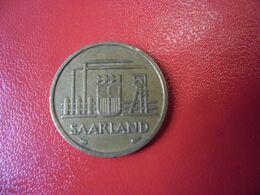 SARRE SAARLAND ZEHN FRANKEN 1954 10 FRANCS CU - ALU - Sarre