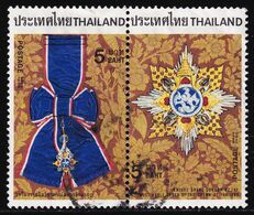 Thailand Stamp 1988 Royal Decorations (2nd Series) 5 Baht In Pair - Used - Tailandia