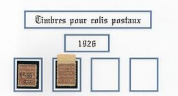 Colis Postaux 1926 - N°47 Etn°48 Neuf SG - Cote 37,00€ - Mint/Hinged