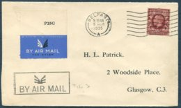 1935 GB Hillman Airways Flight Cover Belfast - Glasgow AIR MAIL Cachet Type 3. - Covers & Documents