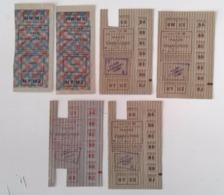 Vichy - Tickets De Rationnement - Viande Et Charcuterie Septembre 42 - Tickets 731 U Et 706 U 1943 - Documentos Históricos