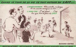 Buvard Publicitaire Ancien/Lait/Promotion Des Vertus Du LAIT/Quand Le Tour De La Vie Se Fait .../vers 1950-1960 BUV529 - Leche
