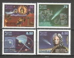 Sri Lanka 1986 Mi 732-735 MNH HALLEY'S COMET - Astronomy