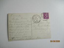 Montlucon A Clermont Ferrand Cachet Ambulant Convoyeur Poste Ferroviaire - Storia Postale