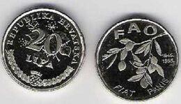 Croatia 20 Lipa 1995 FIAT PANIS FAO 50 Years Food For All Flower Plant UNC - Croazia