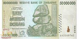 ZIMBABWE 50 MILLION DOLLARS 2008 PICK 79 UNC - Zimbabwe