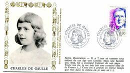 Thème Général De Gaulle - BT PARIS - 22 Novembre 1990 - Y 510 - De Gaulle (Generaal)