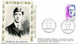 Thème Général De Gaulle - BT FONTENAY LE COMTE - 22 Novembre 1990 - Y 513 - De Gaulle (Generaal)