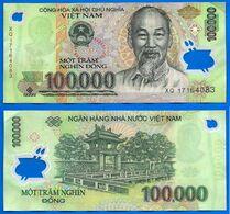 Vietnam 100000 Dong 2017 Que Prix + Port 100 000 Asie Asia Billet Polymere Paypal Bitcoin OK - Vietnam