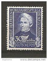 GERMANIA - JOHANN  HINRICH WICHERN Teologo E Missionario Protestante Tedesco Nuovo** MNH - Teologi