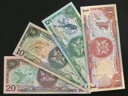 TRINIDAD & TOBAGO SET 1 5 10 20 DOLLARS BANKNOTES 2002 UNC - Trinidad & Tobago