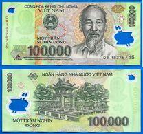 Vietnam 100000 Dong 2018 Que Prix + Port 100 000 Asie Asia Billet Polymere Paypal Bitcoin OK - Vietnam