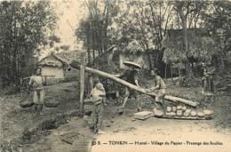 Indochine , Collect Dieulefils , TONKIN , Hanoï , Village Du Papier , *  453 83 - Vietnam