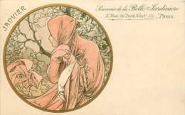 MUCHA  , Mois De Janvier , Souvenir De La Belle Jardiniere , *  453 94 - Mucha, Alphonse