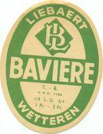 Oud Etiket / Ancienne étiquette Bier Bièrre : Liebaert Bavière Wetteren - Bier