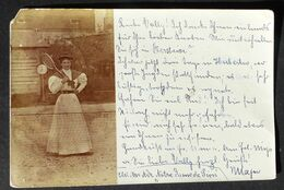 AK Tennis  Künstlerkarte Fotokarte   Frau Mit Tennisschläger Um 1900  #AK6224 - Tennis