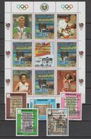 Paraguay 1991 Olympic Games Barcelona, Swimming, Judo Etc. Sheetlet + 5 Stamps With Silver Overprint MNH - Ete 1992: Barcelone