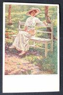AK Tennis  Künstlerkarte Frau Tennisschläger Um 1900  #AK6231 - Tennis