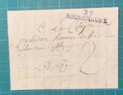 Gard - 29/ROQUEMAURE - An 9 (1801 ) - Cote 60€ - Superbe - 1792-1815: Veroverde Departementen