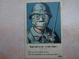 CPA Illustrateur GRIFF Masque Contre Les Gaz - Griff