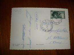 Italia REP Cartolina 1952  Affrancata LAVORO 10 Spedita Da GAETA A S.VITOROMANO (RM) - 6. 1946-.. Republic