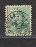 COB 167 Oblitération Centrale BRUGGE 1A - 1919-1920 Albert Met Helm