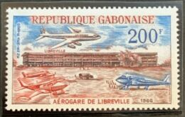 Gabon, 1966, Airport, Airplane, Aviation, MNH, Michel 258 - Gabon (1960-...)