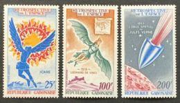 Gabon, 1970, Space, Icarus, MNH, Michel 363-365 - Gabon (1960-...)